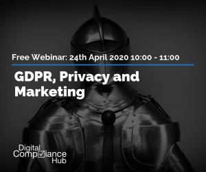 GDPR privacy marketing free webinar