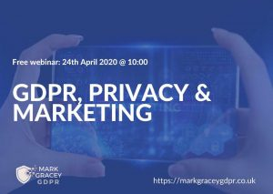 GDPR privacy marketing webinar