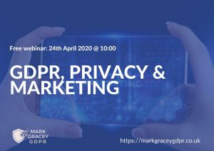 GDPR privacy marketing webinar