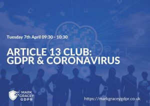 Article 13 Club - Coronavirus