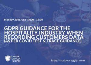 Free webinar - GDPR Hospitality Guidance
