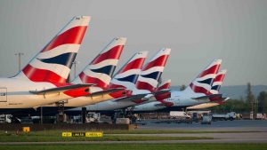 Image of BA planes for decorative purposes