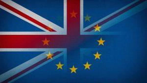 Decorative image of UK and EU flags